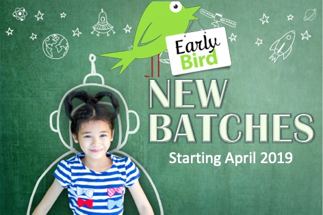 Early Bird discount for new batches starting April 2019